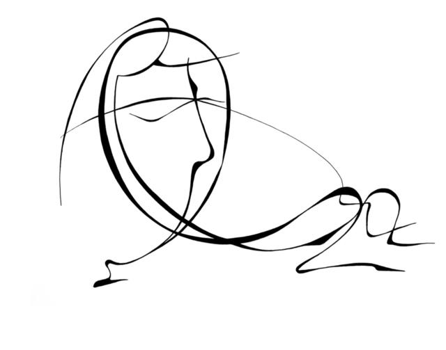 640x503 Lyudmila Kogan Artwork Being Down Original Drawing Pen
