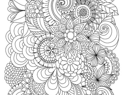 440x330 25 Abstract Flower Coloring Pages, Coloring Pages Flower Coloring