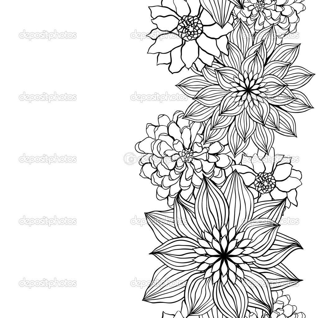 Abstract Flower Line Drawing : Abstract flower drawing at getdrawings free for