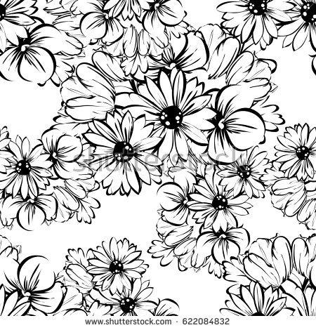 450x470 Drawn Daisy Abstract