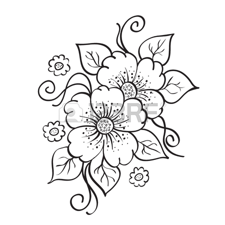 450x450 Flower Sketch Stock Photos. Royalty Free Business Images