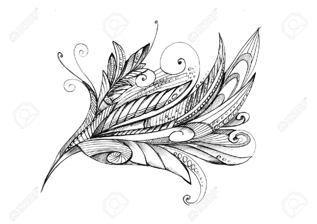 1024x724 Pencil Drawing Of Abstract Flowers Abstract Unusual Pencil Drawing