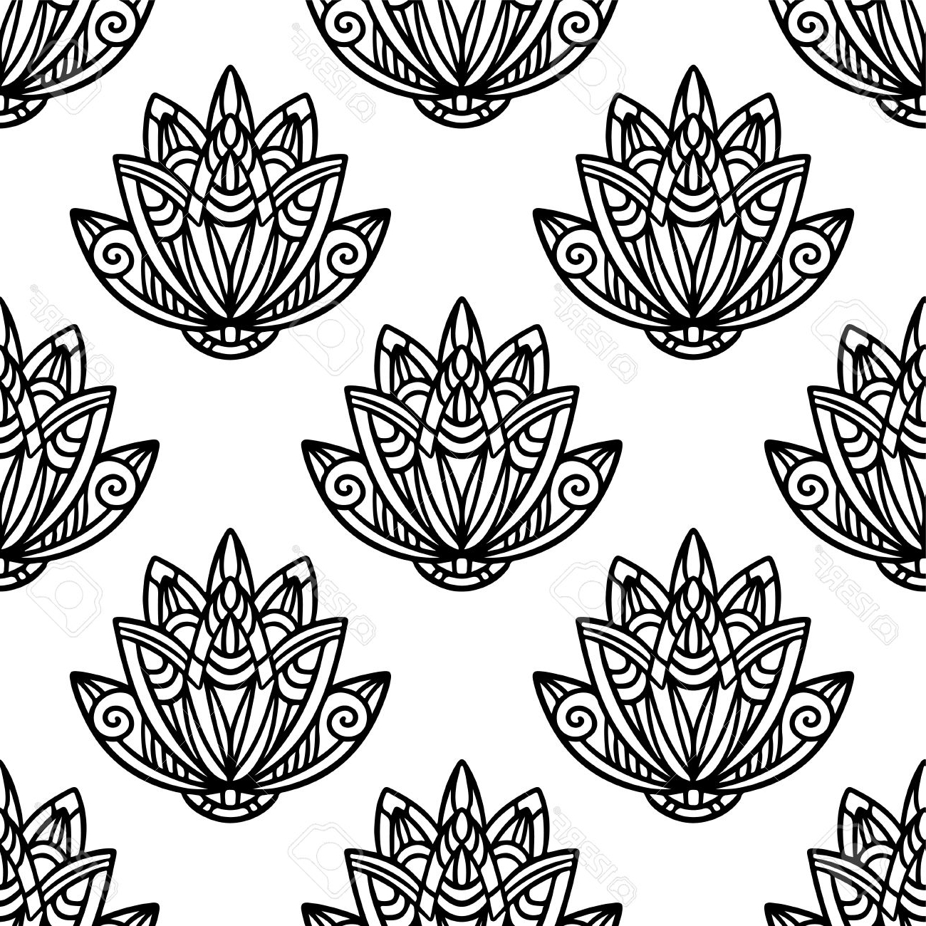 1300x1300 Simple Abstract Flower Drawings Clipart