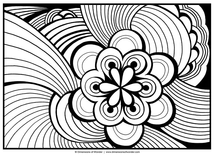 736x535 Abstract Art Coloring Pages Printable For Kids