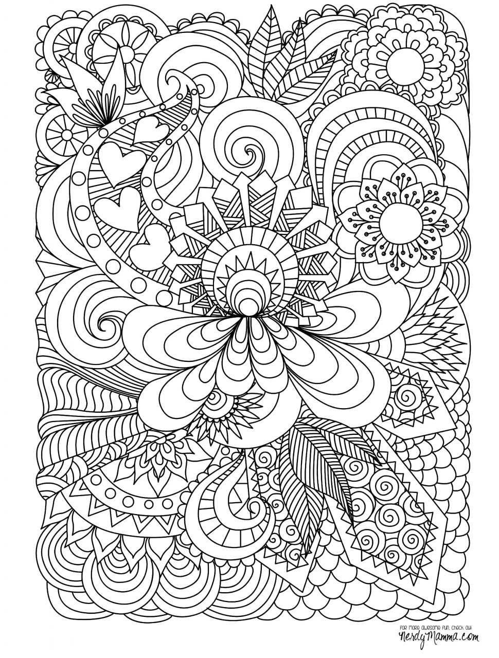 Abstract Flowers Drawing at GetDrawings.com | Free for personal use ...