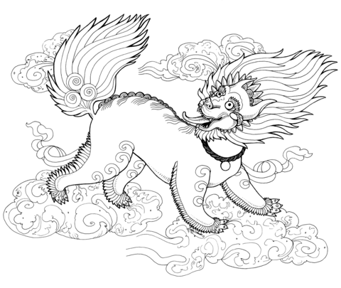 480x405 Snow Lion Zentangle Coloring Page Free Printable Coloring Pages