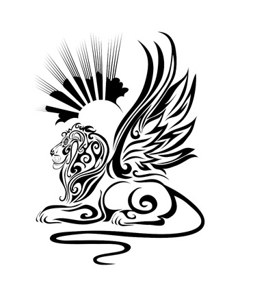370x426 Dream Lion Abstract Tattoo Japanese