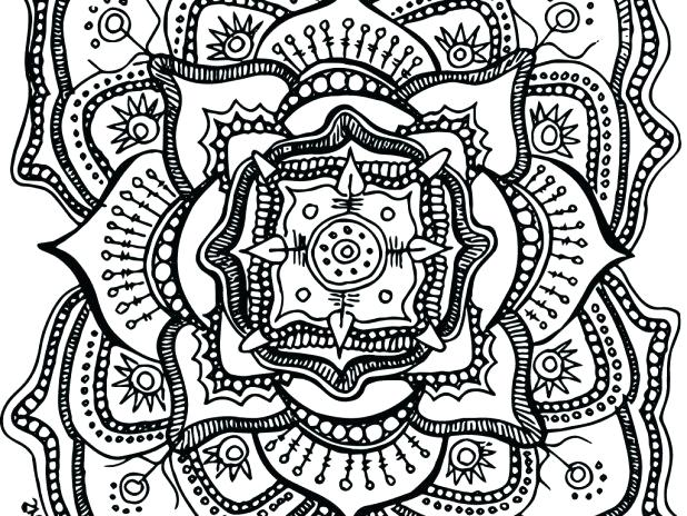 618x464 Coloring Pages For Adults Pdf Packed With Free Printable Mandala