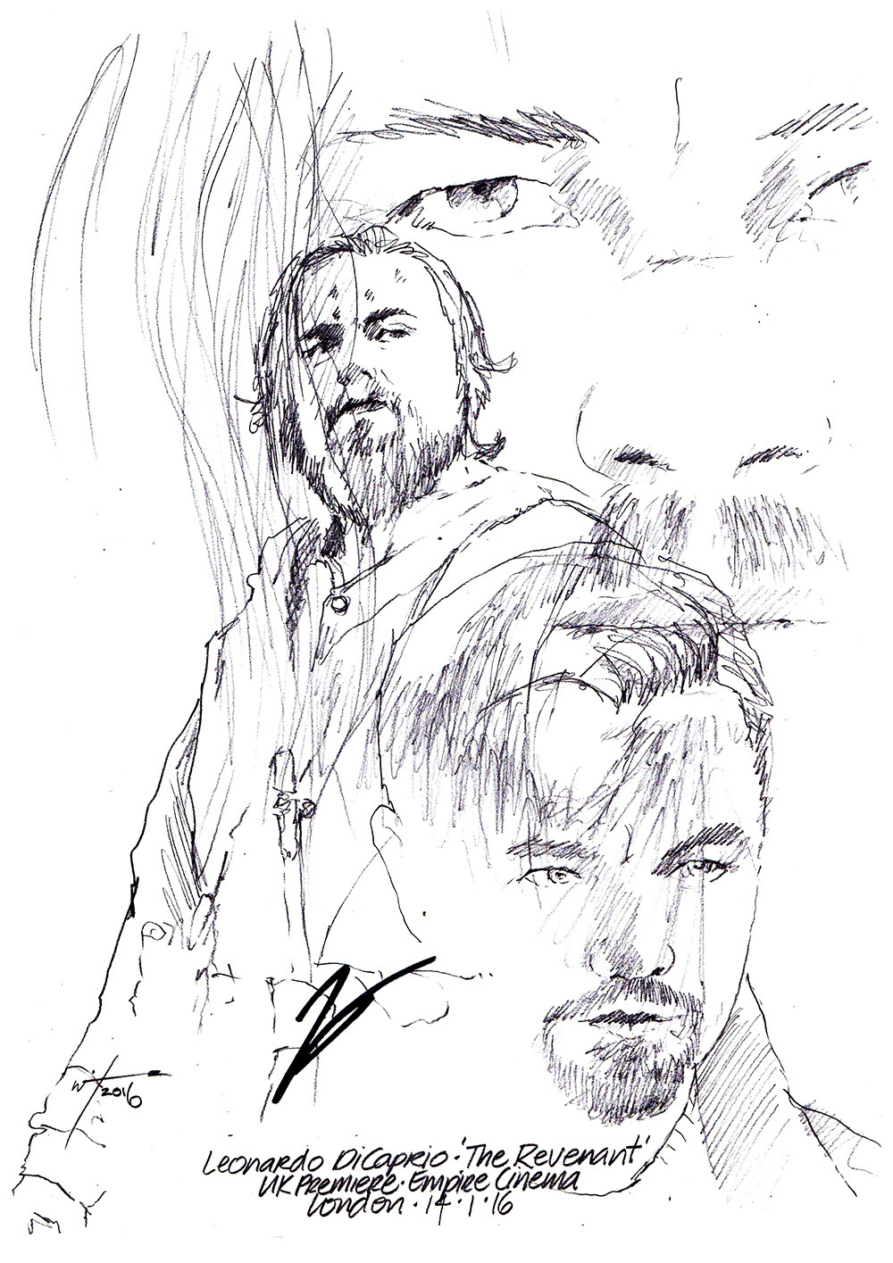 1000x1415 Drawing Leonardo Dicaprio In The Revenant Chicanepictures