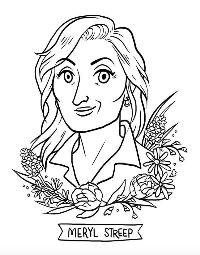 647x825 Meryl Streep Coloring Activity