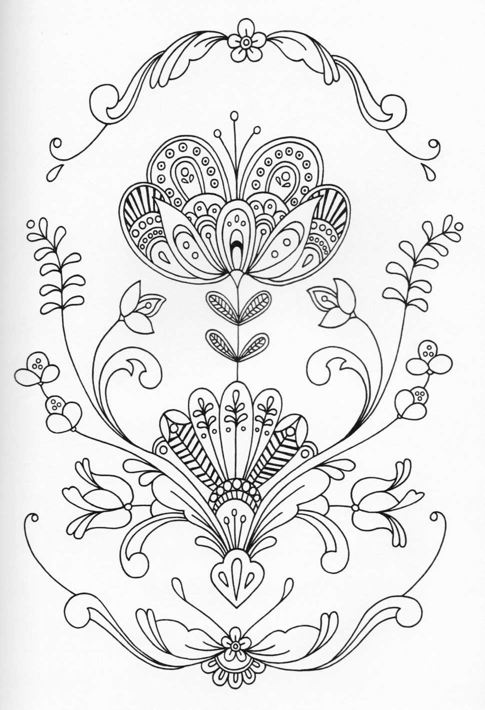 970x1418 Coloring Adult Coloring Page Inspiration Scandinavian