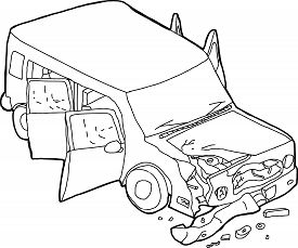 275x229 Car Accident Cartoon Images