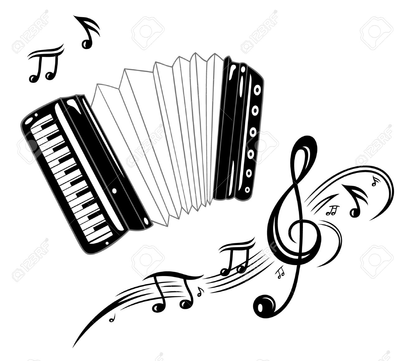 Accordion Drawing At Getdrawings Com Free For Personal