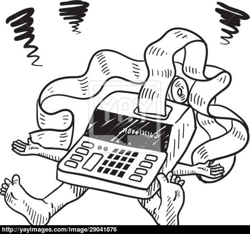 512x479 Crushed By Accounting Vector Sketch Vector