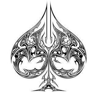 297x298 Ace Of Spades Drawing