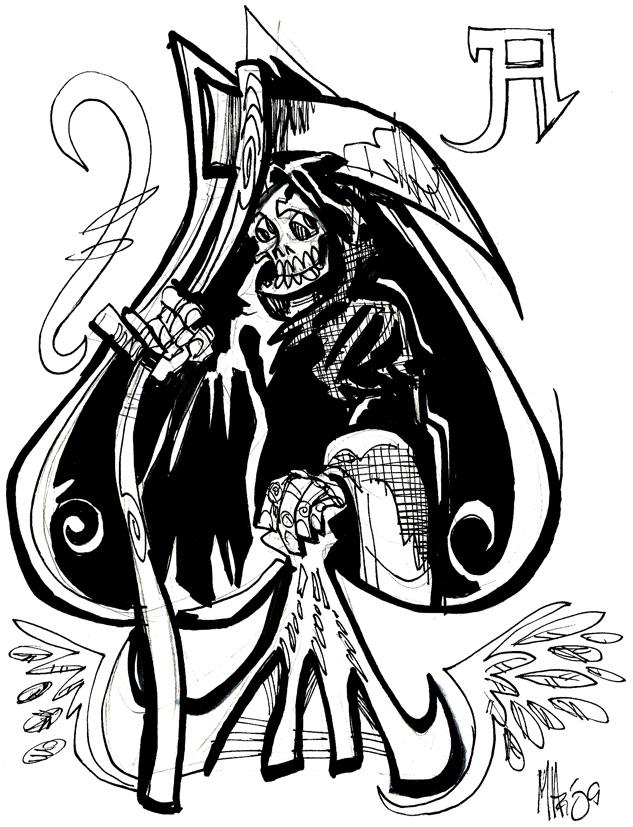 633x827 Ace Of Spades Grim Reaper By Mannycartoon