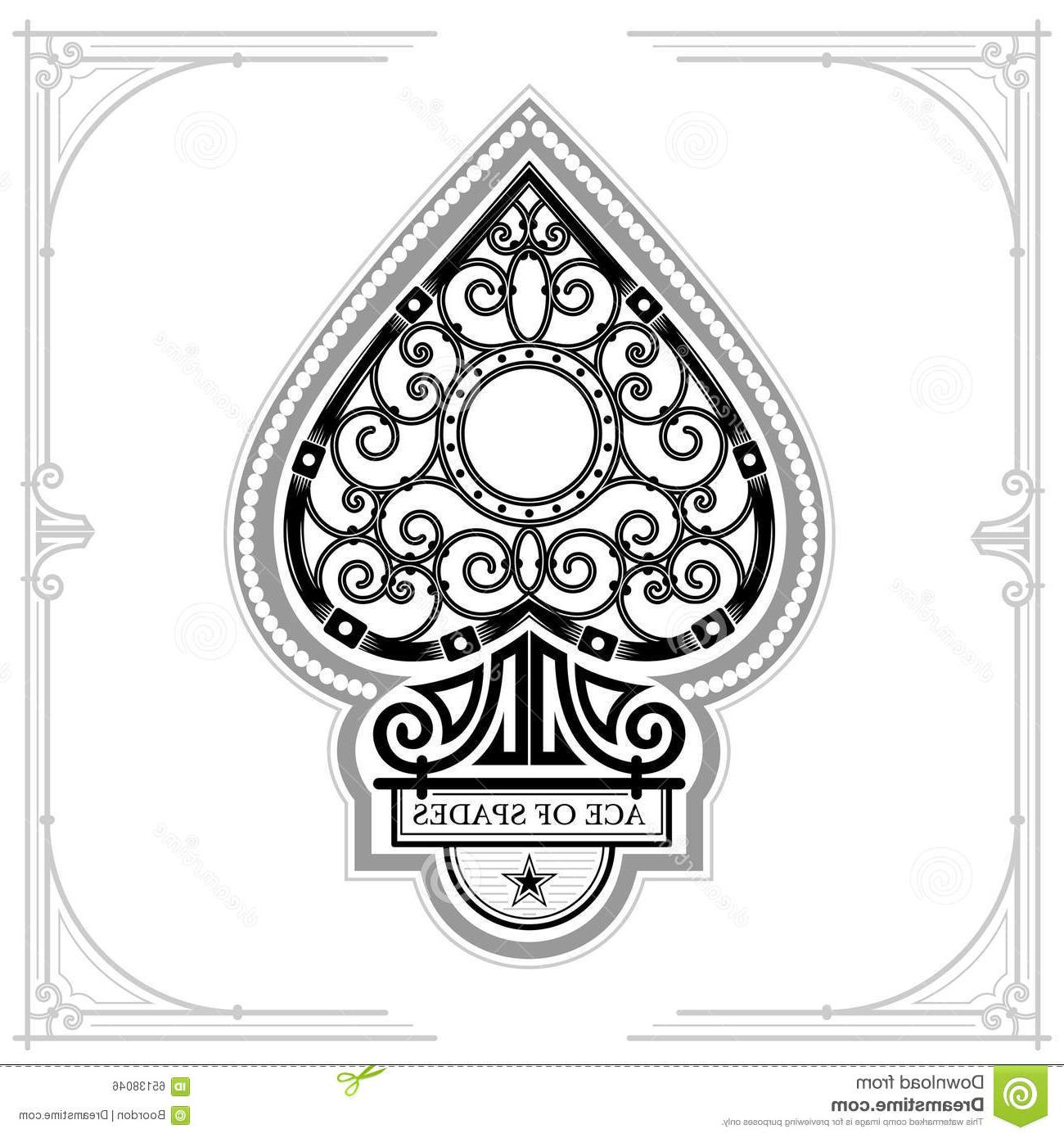 1300x1390 Best Hd Ace Spades Forging Curl Pattern Inside Black White