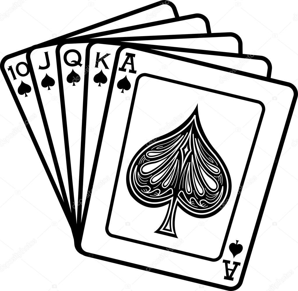 1023x998 Hand Of Cards Showing A 10, Jack, Queen, King And Ace Of Spades
