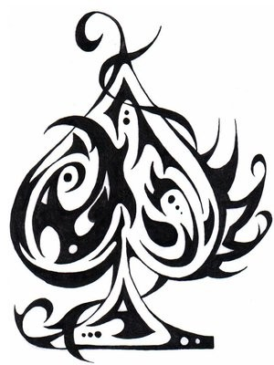 300x400 Inked Tattoo Ace Of Spades By Isobel Parker