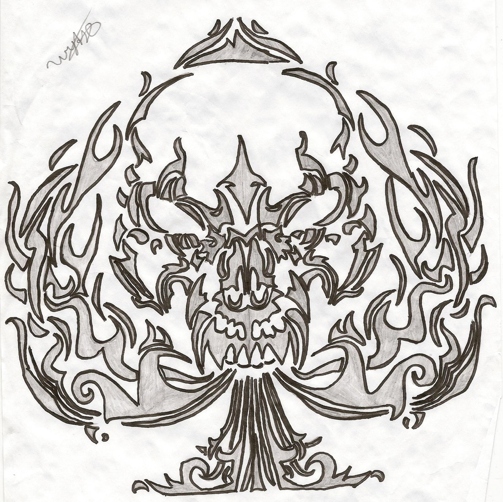 1644x1643 Ace Of Spades (Tribal) By Darks0ul777