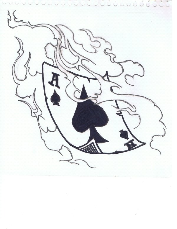 600x776 Ace Of Spades By Johneetrash