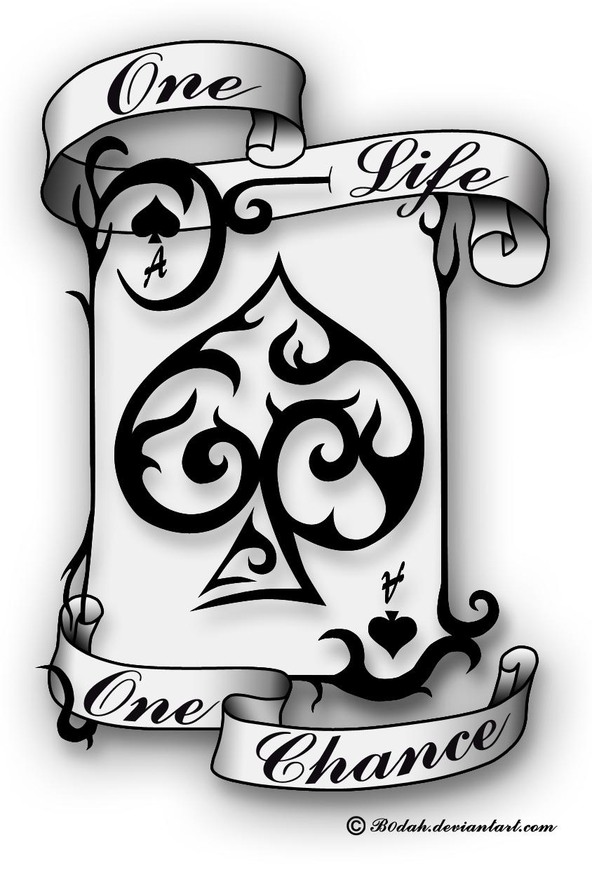 844x1240 Ace Of Spades Tattoo Design By B0dah