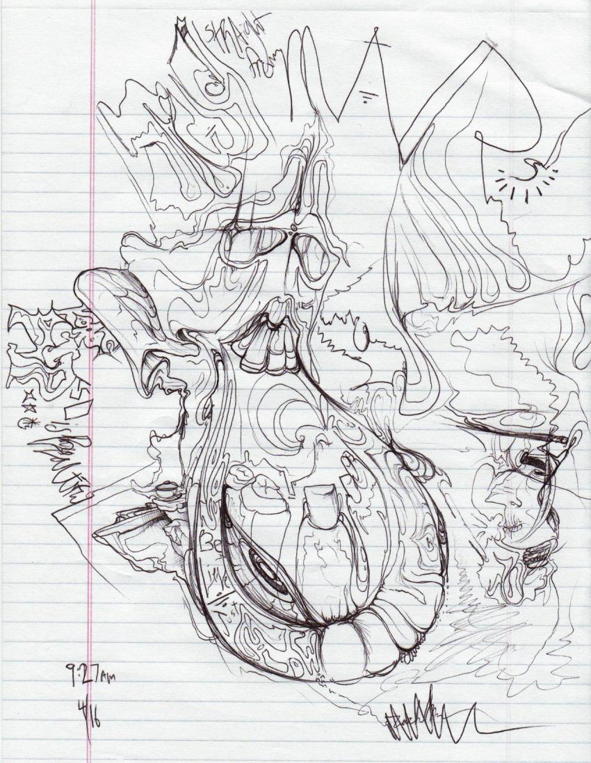 850x1097 Drawing On Acid