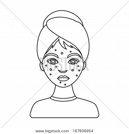 450x470 Woman Acne Icon Outline Style Vector Amp Photo Bigstock
