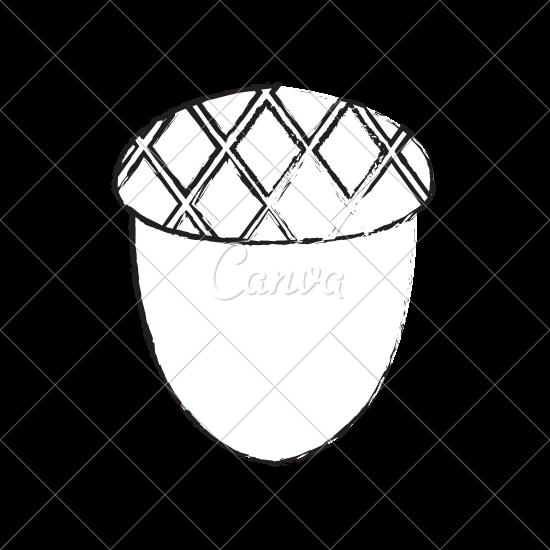 550x550 Acorn Nut Sketch