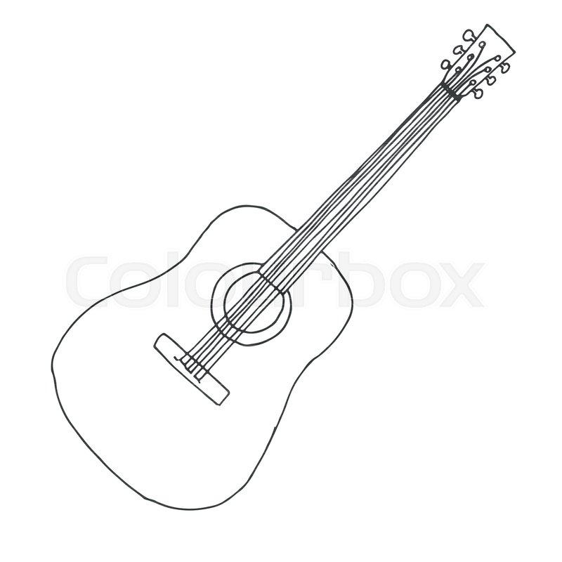 acoustic guitar drawing at getdrawings com