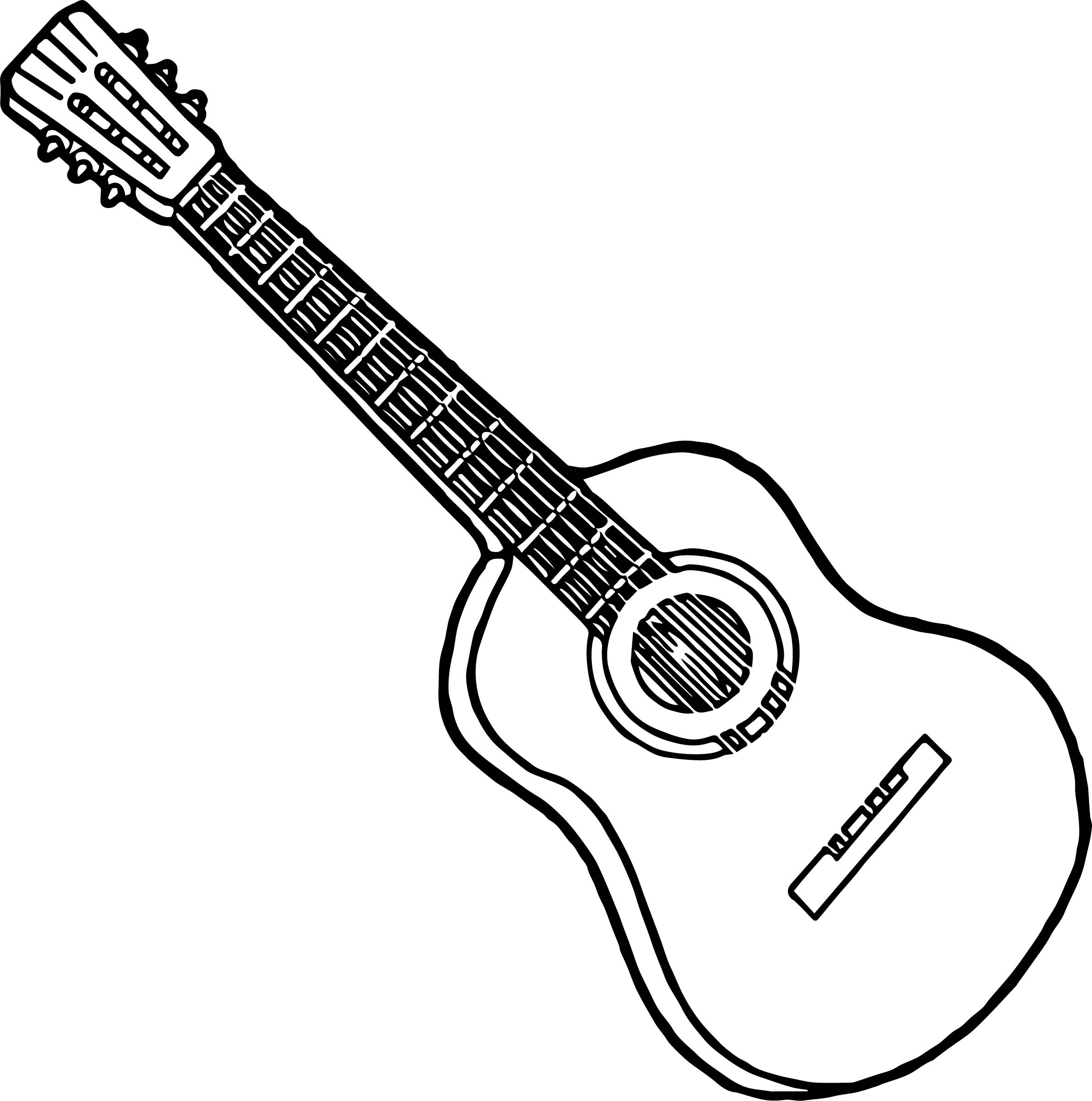 Line Drawing Guitar : Acoustic guitar line drawing at getdrawings free for