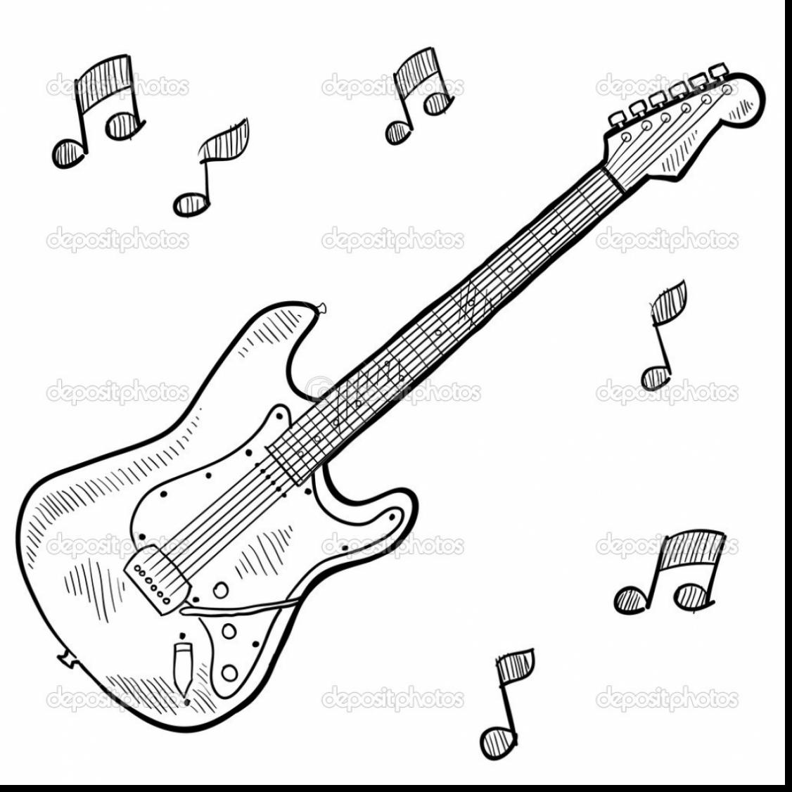 1126x1126 Astonishing Acoustic Guitar Sketches With Coloring Page