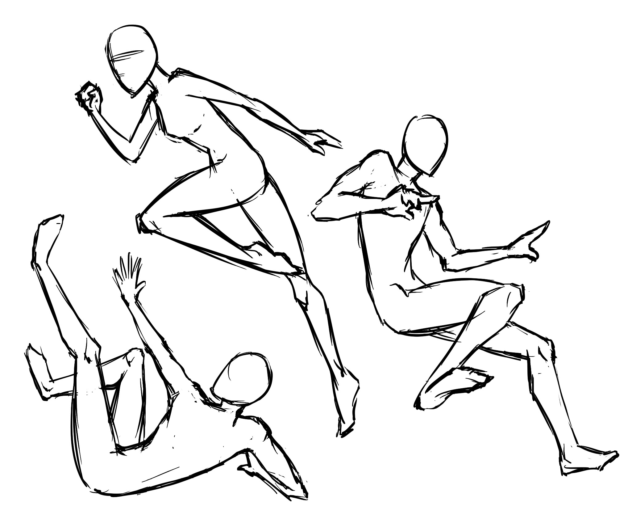 2035x1693 Drawing Figures In Action Simplified Human Figure Drawing Kicking