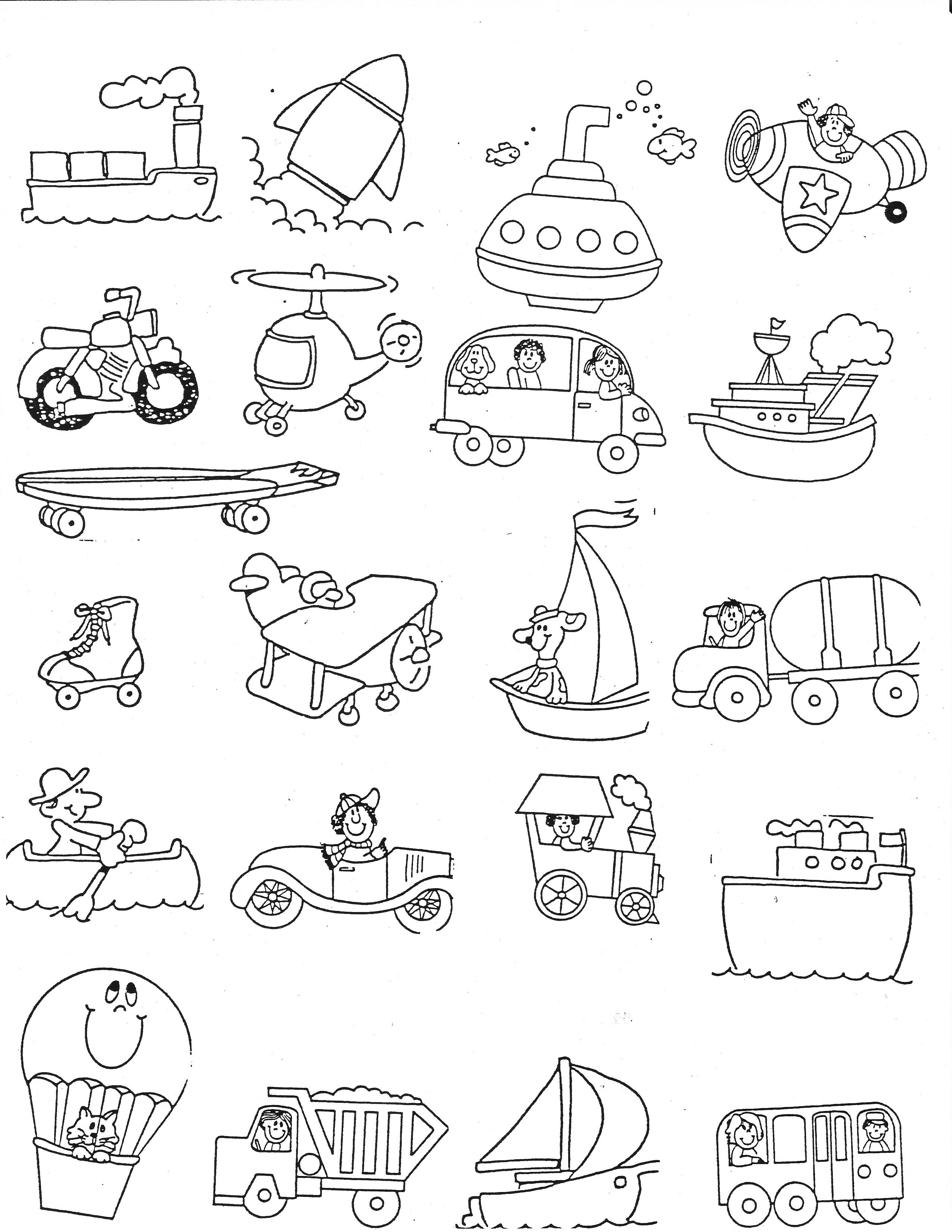 2550x3300 Transportation Kindergarten Nana