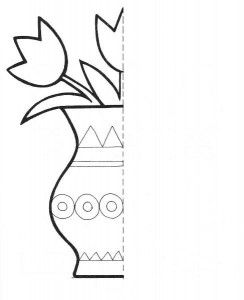 244x300 Flower Symmetry Activity Coloring Pages For Kids Percepcka