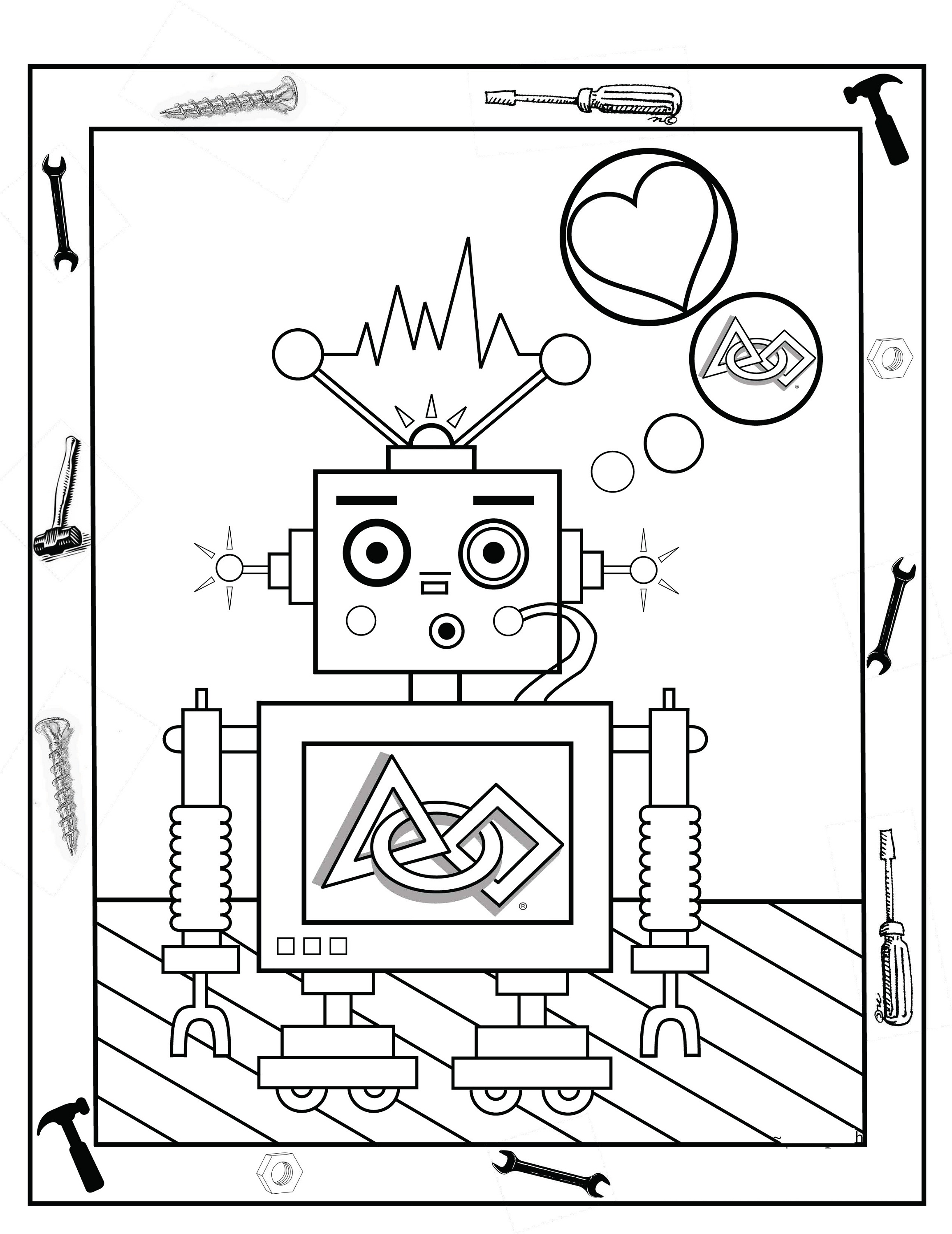 2315x3000 Kids Activity Sheets Printable Robot Activity Shelter Coloring