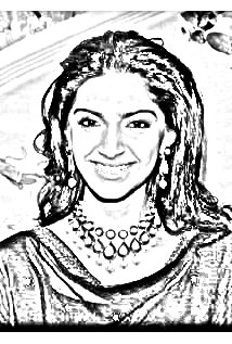 214x317 Sonam Kapoor Drawing. Get Yours Free!