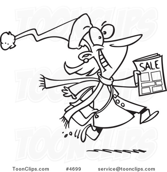 581x600 Cartoon Black And White Line Drawing Of An Excited Black Friday