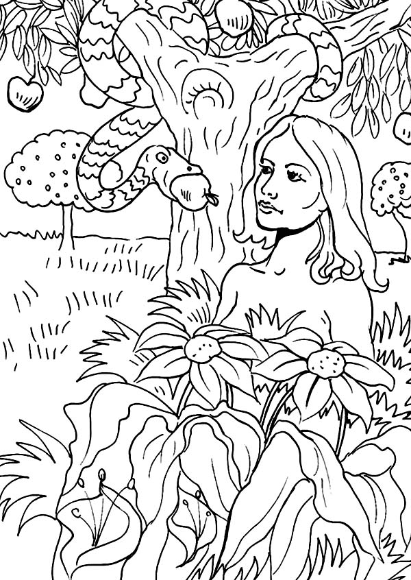 Adam And Eve Drawing at GetDrawings.com | Free for personal use Adam ...