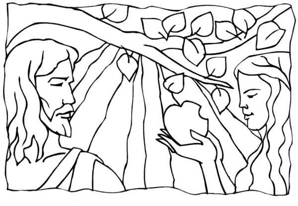 600x414 Adam And Eve Broke Commandment Of God In Garden Of Eden Coloring