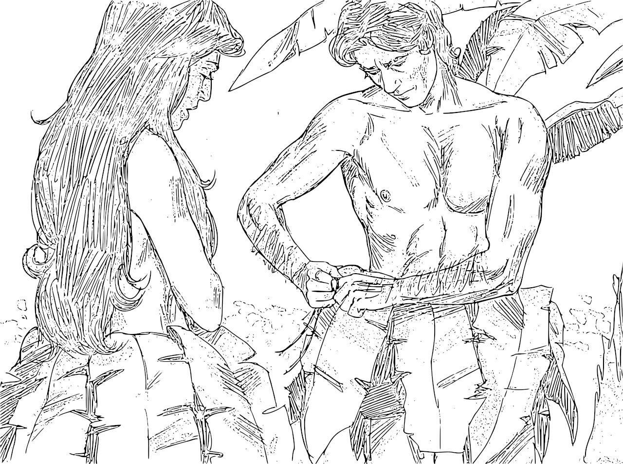 1280x953 Adam And Eve Coloring Pages