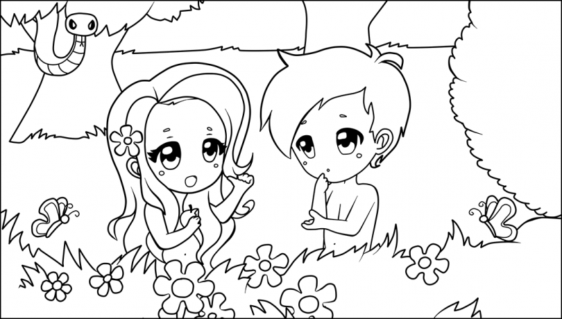810x460 Adam And Eve And The Two Trees