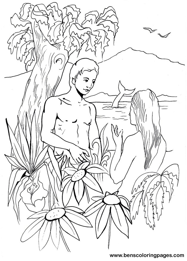 627x873 Bible Day 6 Creation Adam And Eve