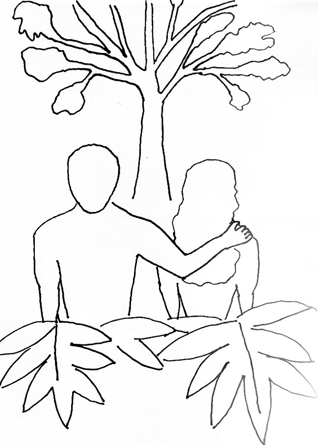 648x907 Coloring Page For Adam And Eve Free Bible Stories For Children