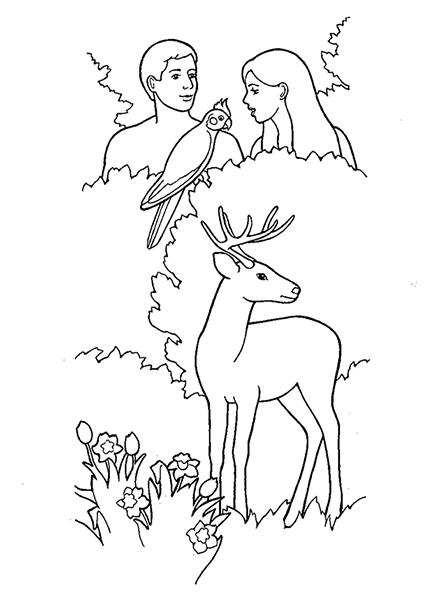 447x596 Creation Adam And Eve In The Garden Of Eden