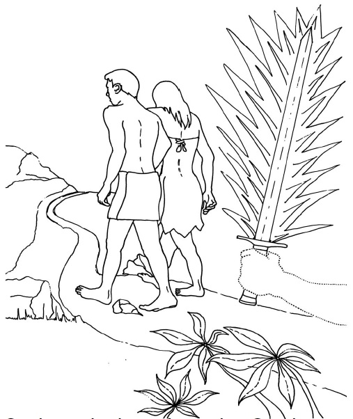 507x602 Adam And Eve Hiding From God Coloring Page