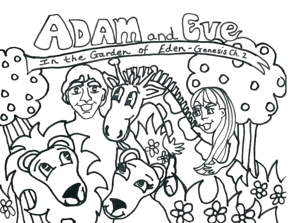 970x750 Adam And Eve Coloring Sheets And Eve Coloring Pages Adam Eve