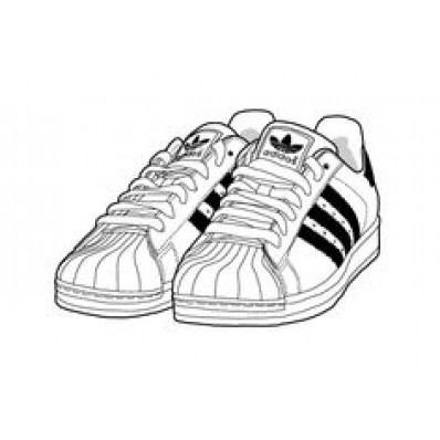 398x398 Adidas Sneakers Drawing