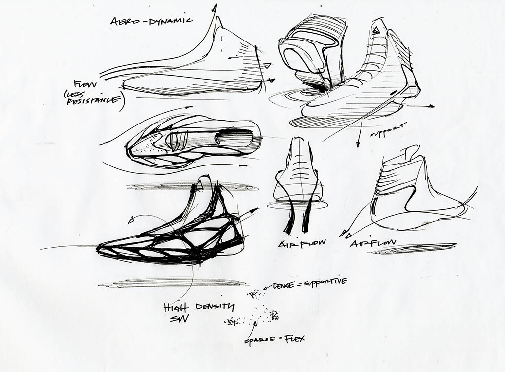1024x753 Concept Sketches Black And White (Pencil), Different Perspectives