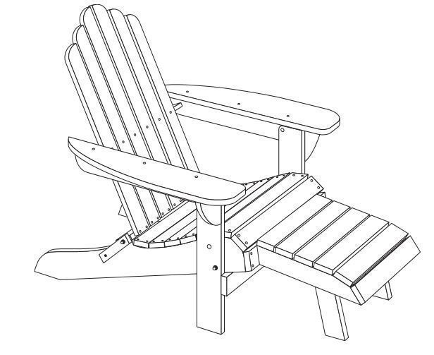 616x503 3d Printed Adirondack Chair By Cstasek Pinshape